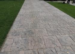 Тротуарная плитка 500х500х50 «Ларнака» Мощение от БИОП пешеходных дорожек+ отмостка дома+ въезд для машины.