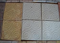 Тротуарная плитка 400х400 «Спирали»