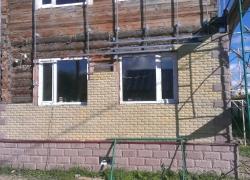Облицовка дома фасадной плиткой
