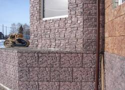 Фасадная плитка «Скалистая гора»+«Унгельский камень»